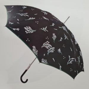 Paraguas con estampado flor mimosas en blanco
